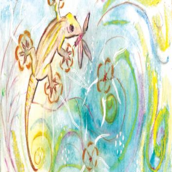 The Indigo Fairy and the Lizard