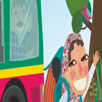 Soni and her school bus