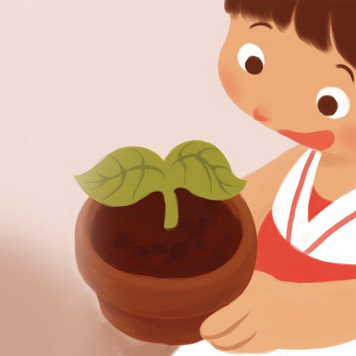 RIYA GROWS A PLANT